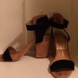 DOLCE VITA cork heeled suede sandals -size 7